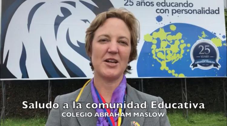 Saludo Sra. Embajadora de Australia Sophie Davies al Colegio Abraham Maslow