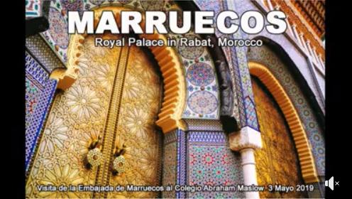 Saludo en español y en árabe de la Embajada de Marruecos al Colegio Abraham Maslow – International Garden.